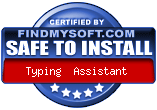 'Safe to Install' award for Typing Assistant