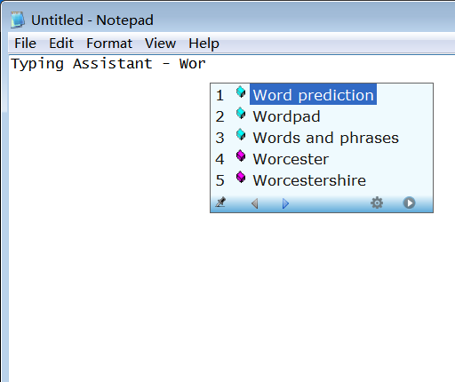 Typing Assistant autocompletes frequently used words and phrases anywhere.